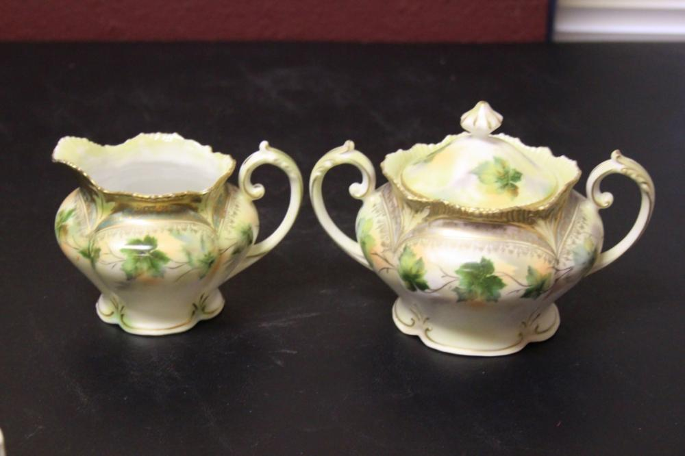 A Pair of RS Prussia Creamer and Sugar Container