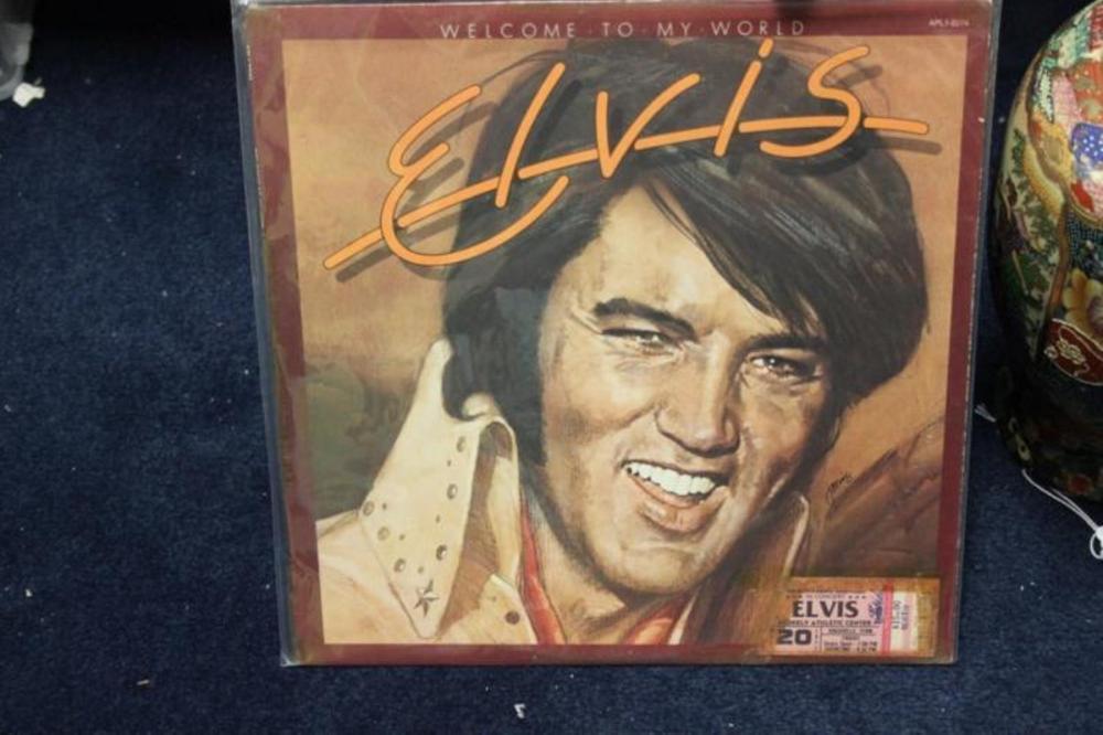 Elvis Presley Album with Rare Concert Ticket