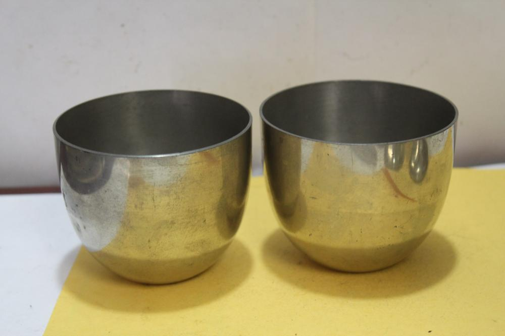 Set of 2 Steiff Pewter Cups