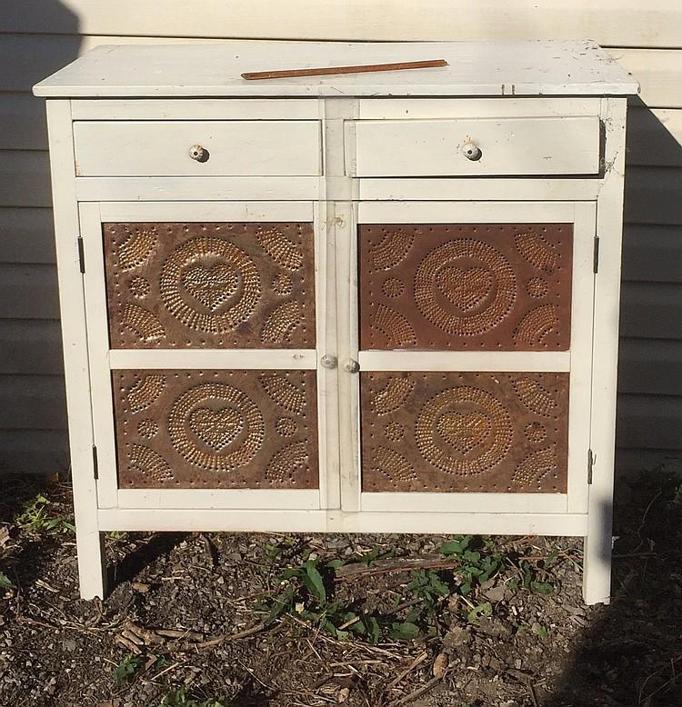 Pie Safe, Antique White Cabinet