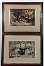 Fores London Publishers XIX Pair of hand tinted