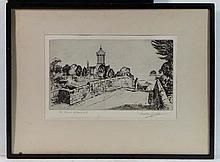 Preston Cribb (1876-1937) Scottish Etching ' The