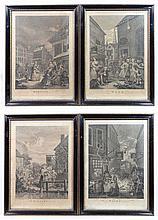 After William Hogarth (1697-1764) Set of Four