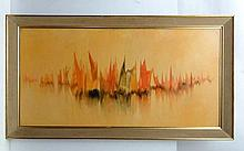 Gerald Parkinson, (1926- ?) Oil on board 'Warm
