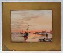 Morrison XIX-XX Watercolour Fishing boats