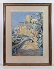 Peter Dixon-Clegg (1932-1990?) Watercolour A view