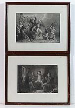 Scottish School Pair of engravings Imbibing within