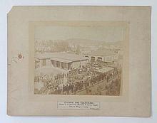 1884 De Bray Sepia photograph ' Depature of Prince
