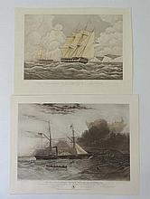 After WA Knell (c.1805-1875) Coloured mezzotint '