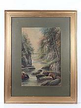 Albert Milton Drinkwater ( 1862-?) Watercolour