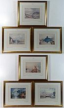 After JMW Turner RA (1775-1852) Six coloured
