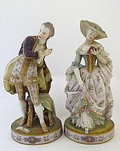 A pair of 19thC porcelain figures by Jean Gille