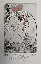 Yurly (Yuri) Nozdrin (b.1949) Russian Lithuanian , Hand embellished limited
