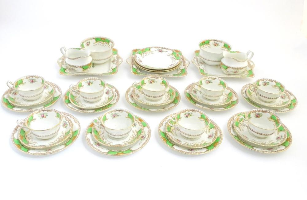 A quantity of Fenton tea wares in the pattern Kenmare, to include cups and saucers, side plates, san
