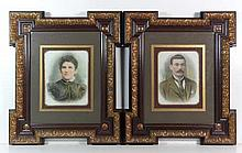 Frames : A pair of Kent framed late Victorian