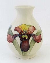 A Moorcroft vase of inverse baluster shape