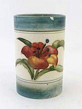 A Moorcroft short vase of cylindrical form