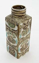 A Royal Copenhagen faience square shaped vase by