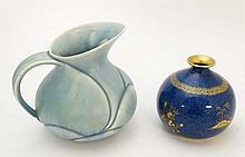 Crown Devon jug and Wilton ware : A Crown Devon
