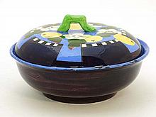 An Art Deco circular bowl and cover by Bough