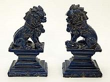 Pair of Mystical Immortal Chinese Guardian Lions