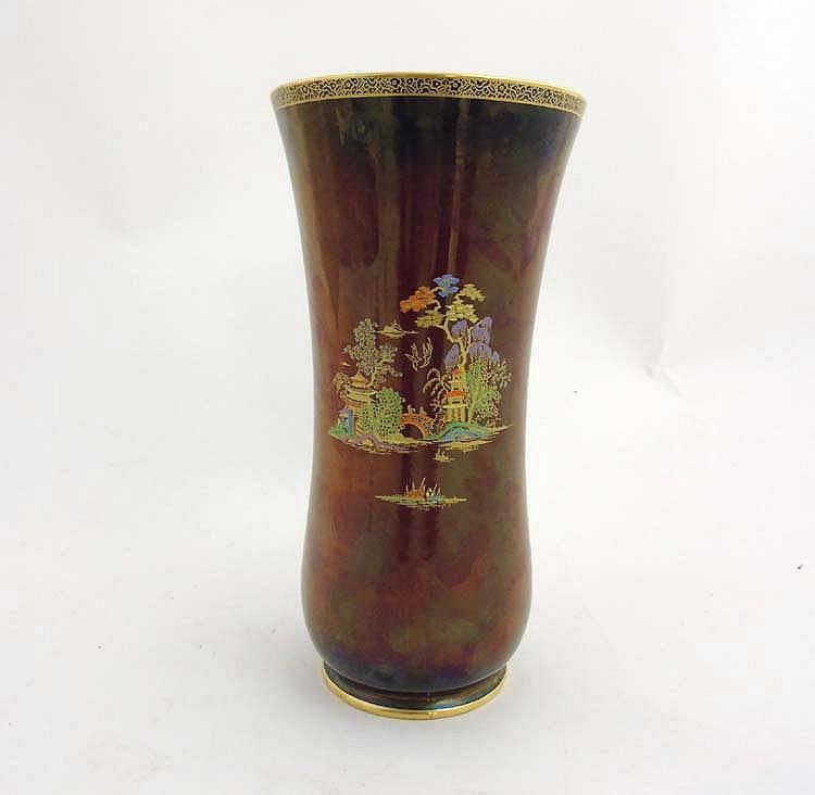 a 20th c fieldings crown devon rouge royale lustre vase depi. Black Bedroom Furniture Sets. Home Design Ideas