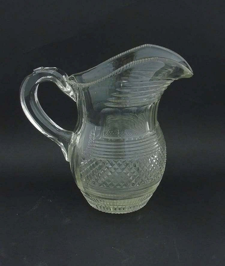 A 19thc clear cut glass crystal jug with loop handle 8 1 2 39 How can i cut glass at home