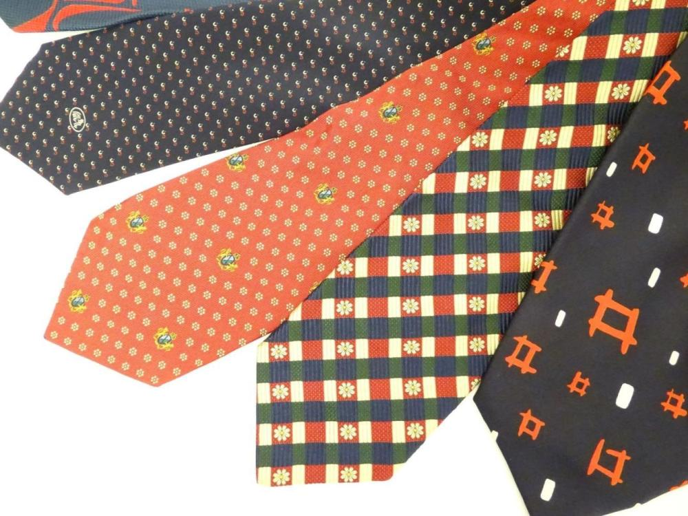 Lot Vintage Clothing Fashion 6 Silk Ties In Navy And Reds By Austin Reed Tittorio Pink And John Har