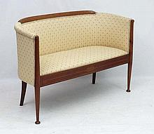 Manner of William Birch ; A mahogany 2-seat sofa with inlaid detail. 50'' w