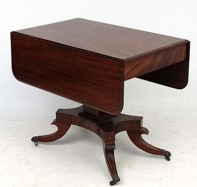 A 19thc Mahogany Pedestal Sofa Table 36 39 39 Wide X 44 39 39 Exten