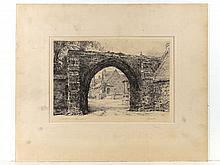 Wallace Hester (XIX-XX) Etching Priory Gatehouse