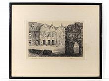 Wallace Hester (XIX -XX) Etching ' Repton School
