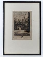 Mabel Oliver Rae (XIX-XX) Cornish Etching ' Clare