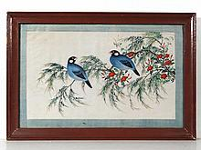 Chinese early 20th Century Watercolour on rice
