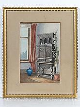 Mid XX English School Watercolour A 17th Century