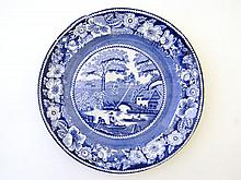 A 19th Century blue and white transfer printed