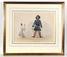 Manner of Charles Doyle Watercolour