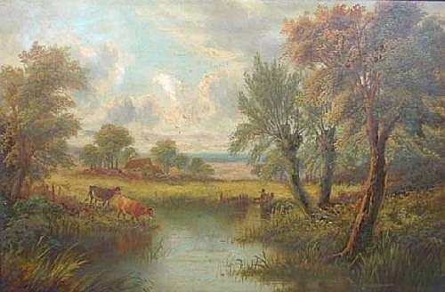Edward Heaton ( 1824 - ? ) Oil on canvas Country