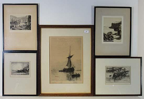 F E Allen, (XX), 'Merseyside - a storm' titled in