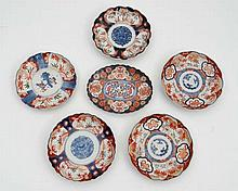 A collection of Japanese Imari ceramics. Circa