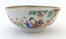 An 18thC Chinese famille rose porcelain bowl,