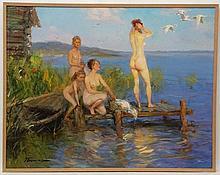 Ponomarienko Oleg Gregorievich (b.1948), Russian School. Oil on hardboard,