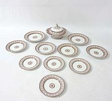 An early 20thC Copeland Spode transfer print part dinner-service including