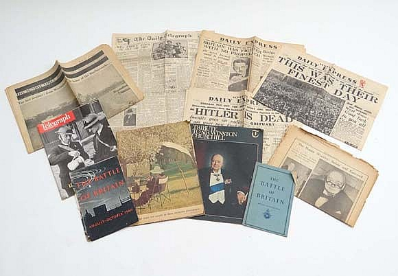 WWII memorabilia : A quantity of Second World War