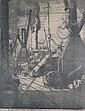 Leslie Moffatt Ward (1888-1978) Print 'Liners, Leslie Moffat Ward, Click for value
