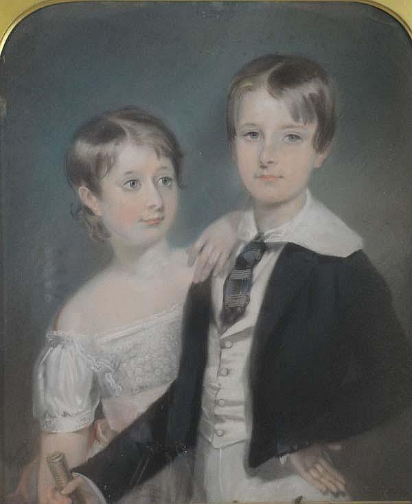 Edward Hastings (fl 1804-1861) Pastel on paper on