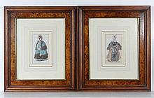 A pair of French Fashion Prints c. 1835 Hand