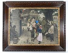 After Arthur J Elsley 1912 Hand coloured engraving