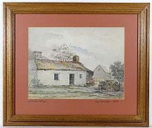 William J Gribble 1873 Watercolour ' A Welsh