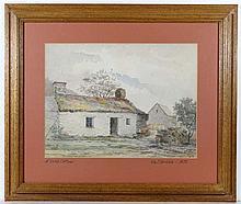 William J Gribble 1873 Watercolour ' A Welsh